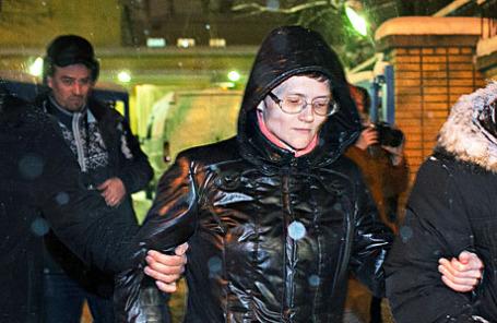 Светлана Давыдова, обвиняемая в государственной измене.