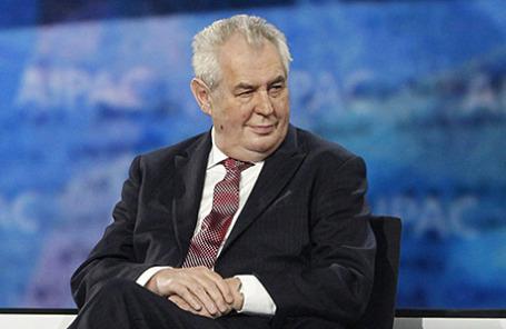 Президент Чехии Милош Земан.