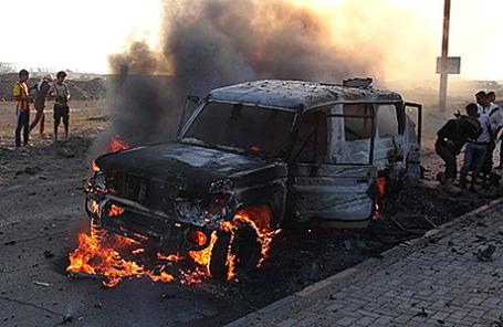 Столкновения в Адене, Йемен.
