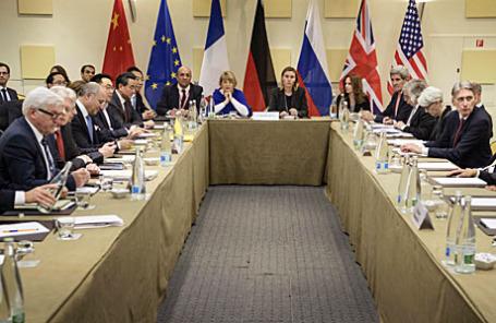 Переговоры по ядерной программе Ирана в Лозанне.