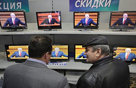 В одном из магазинов электроники в Минске, Белоруссия.