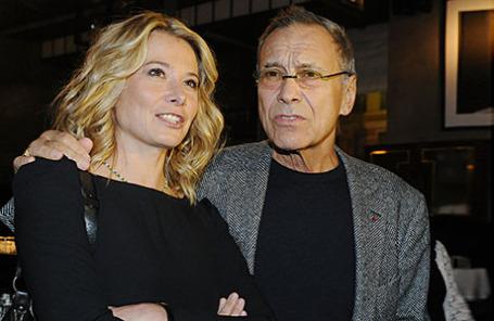 Актриса Юлия Высоцкая и ее муж режиссер Андрей Кончаловский.