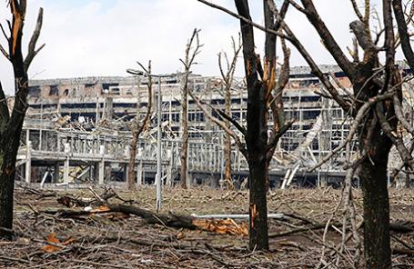 Разрушенный аэропорт Донецка.