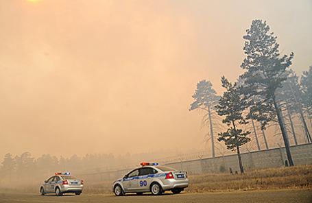 Лесные пожары в селе Смоленка, Забайкальский край.