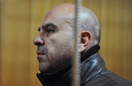 Басам Анджарини, подозреваемый в организации незаконной миграции иностранных граждан на территории РФ во время рассмотрения дела в Тверском суде 2 марта 2013.