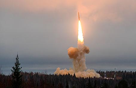 Запуск ракеты с космодрома Плесецк.