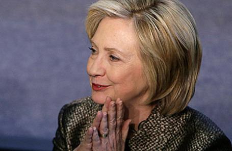 Бывший госсекретарь США Хиллари Клинтон.