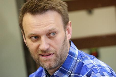 Оппозиционер Алексей Навальный во время заседания по рассмотрению вопроса об изменении условного срока на реальный в Люблинском суде.