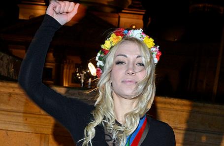 Активистка движения Femen Инна Шевченко.