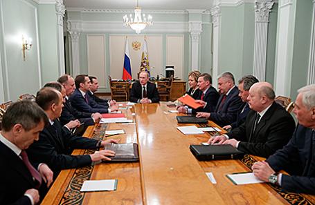 Заседание Совета безопасности РФ в Ново-Огарево.