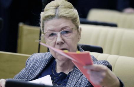 Елена Мизулина, председатель комитета Госдумы по вопросам женщин, семьи и детей