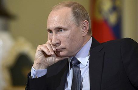 Президент России Владимир Путин во время интервью итальянскому изданию Corriere della Sera.