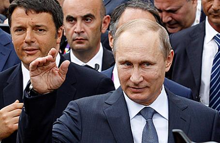 Президент РФ Владимир Путин во время посещения выставки «Экспо-2015» в Милане, Италия, 10 июня 2015.