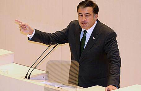 Глава Одесской облгосадминистрации Михаил Саакашвили.