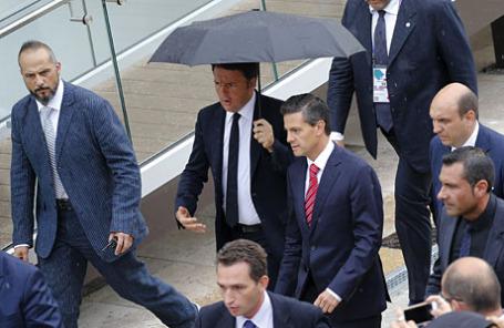 Премьер-министр Италии Маттео Ренци на Всемирной универсальной выставке «ЭКСПО-2015».
