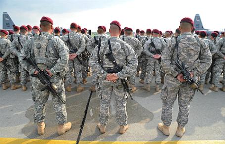 Солдаты десантных войск США.