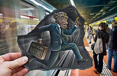 Выставка 3D-иллюзий Бена Хайне.