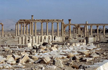 Развалины Пальмиры в Сирии.