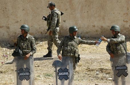 Турецкие солдаты.