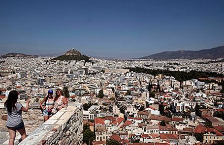 Вид на Афины с Акрополя.