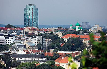 Вид на Вильнюс, Литва.