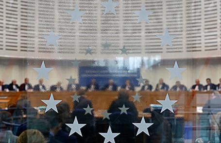 Судьи Европейского суда по правам человека в одном из залов. Страсбург, Франция.