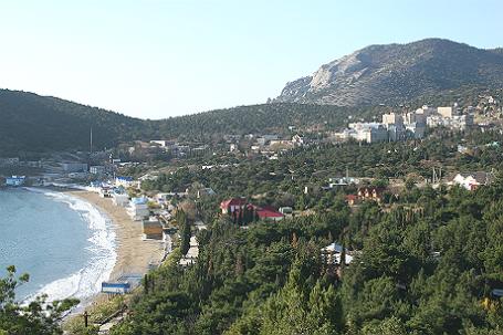 Вид на поселок Новый Свет, Крым