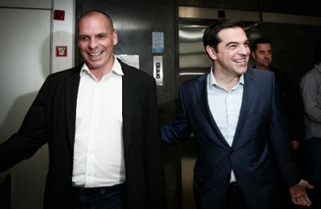 Янис Варуфакис и Алексис Ципрас.
