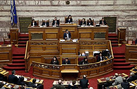 Заседание греческого правительства в Афинах.