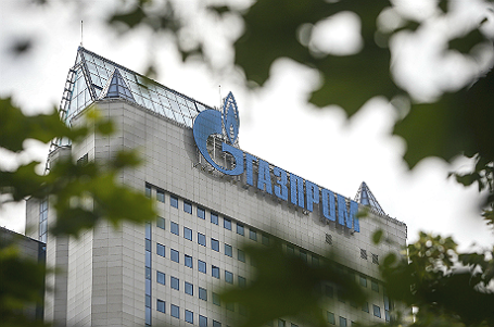 Здание штаб-квартиры «Газпрома» в Москве.
