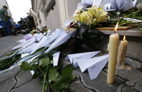 Акция у посольства Голландии в Москве, посвященная памяти пассажиров сбитого малайзийского Boeing