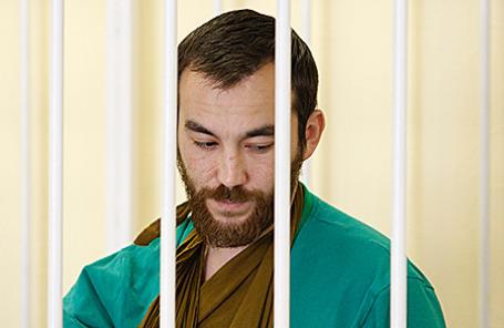Гражданин РФ Евгений Ерофеев, задержанный Службой безопасности Украины в Луганской области, на заседании Аппеляционного суда Киева.