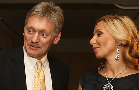 Пресс-секретарь президента РФ Дмитрий Песков и фигуристка Татьяна Навка.
