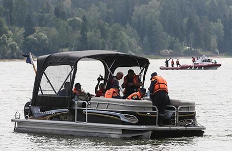 Поисково-спасательная операция на Истринском водохранилище, 9 августа 2015.