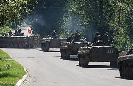 Ополченцы в Донецкой области.