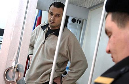 Украинский режиссер Олег Сенцов, задержанный в Крыму по подозрению в подготовке терактов.