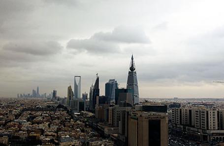 Вид на город Эр-Рияд — столицу королевства Саудовская Аравия.