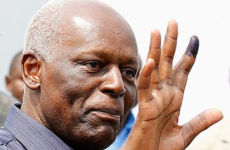 Президент Анголы Жозе Эдуарду душ Сантуш.