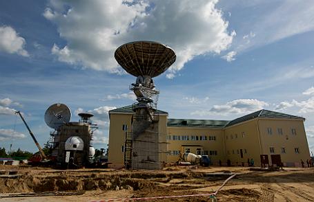 Антенны космической связи на космодроме «Восточный».