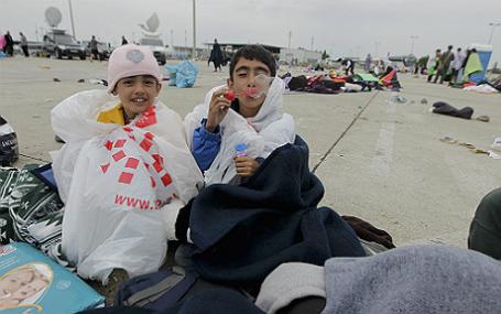 Мигранты рядом с границей Австрии.
