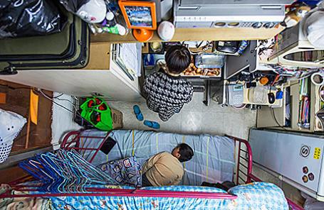 Микро-квартира в Гонконге.