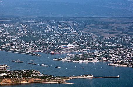 Вид на Севастополь.