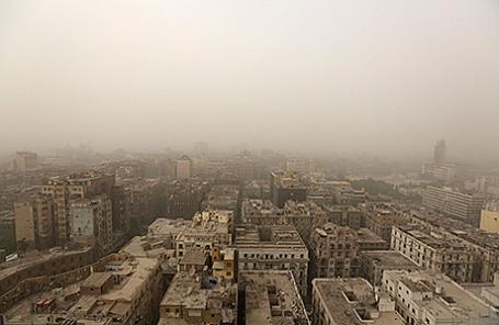 Песчаная буря в Каире, Египет, 8 сентября 2015.