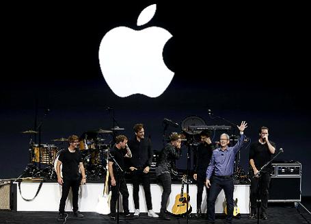 Презентация новой продукции Apple в Сан-Франциско.
