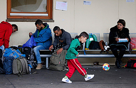 Мигранты в Вене, Австрия.