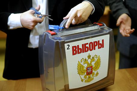 Подсчет голосов на выборах в Новосибирске.
