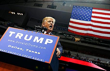 Кандидат в президенты США Дональд Трамп на выступлении в Далласе, Техас.