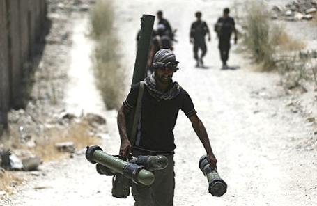Солдат Свободной армии Сирии.