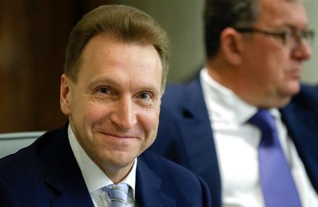 Первый вице-премьер РФ Игорь Шувалов на пленарном заседании Государственной Думы РФ.