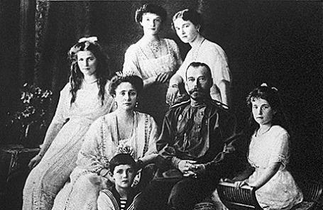Царская семья Романовых, 1913 год.